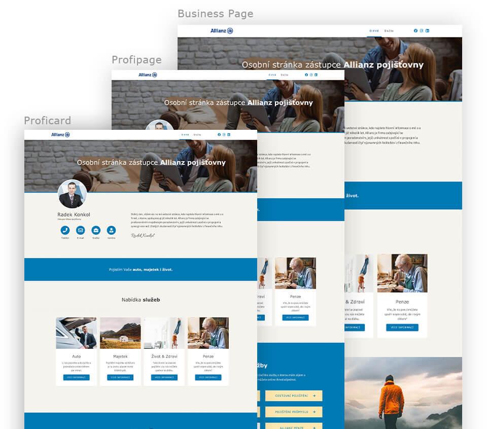 Allianz - Webové stránky pro poradce společnosti Allianz